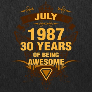 July 1987 30 Years of Being Awesome - Tote Bag
