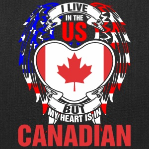 I Live In The Us But My Heart Is In Canadian - Tote Bag