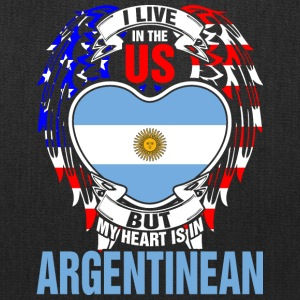 I Live In The Us But My Heart Is In Argentinean - Tote Bag