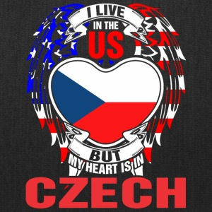 I Live In The Us But My Heart Is In Czech - Tote Bag