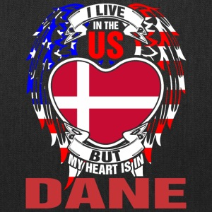 I Live In The Us But My Heart Is In Dane - Tote Bag