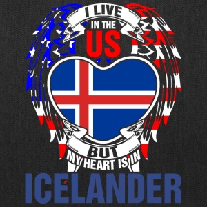 I Live In The Us But My Heart Is In Icelander - Tote Bag