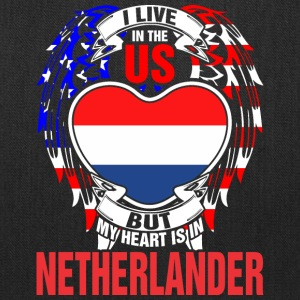 I Live In The Us But My Heart Is In Netherlander - Tote Bag