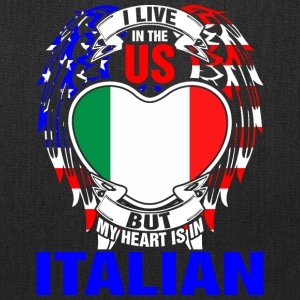 I Live In The Us But My Heart Is In Italian - Tote Bag