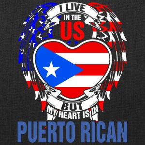 I Live In The Us But My Heart Is In Puerto Rican - Tote Bag