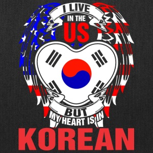 I Live In The Us But My Heart Is In Korean - Tote Bag