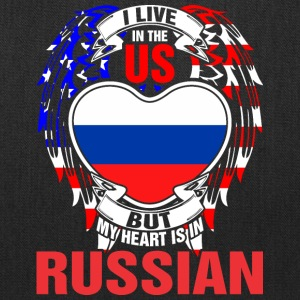 I Live In The Us But My Heart Is In Russian - Tote Bag