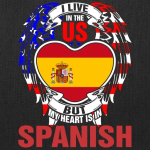 I Live In The Us But My Heart Is In Spanish - Tote Bag