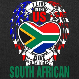 I Live In The Us But My Heart Is In South African - Tote Bag