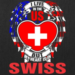 I Live In The Us But My Heart Is In Swiss - Tote Bag