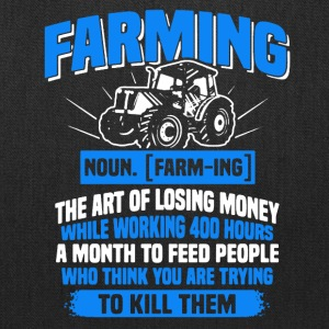 Farming Definition Tee Shirt - Tote Bag