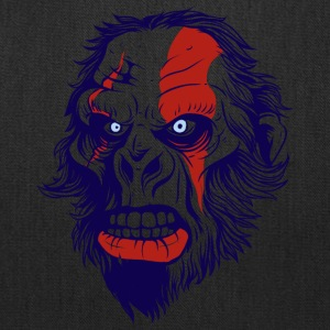funny t shirt design with gorilla - Tote Bag