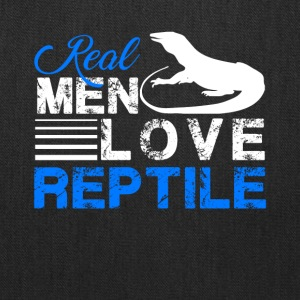 Real Men Love Reptile Shirt - Tote Bag