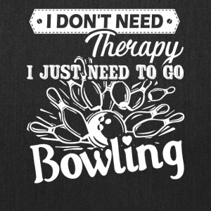 Bowling Therapy Shirt - Tote Bag