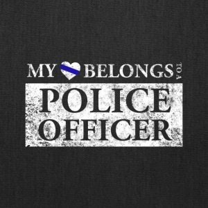 My Heart Belongs To A Police Officer T Shirt - Tote Bag