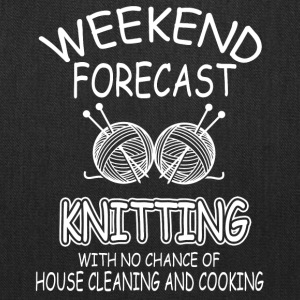 Weekend Forecast Knitting Shirt - Tote Bag