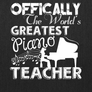 World's Greatest Piano Teacher Shirts - Tote Bag