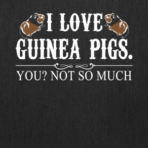 I Love Guinea Pigs Tee Shirt - Tote Bag