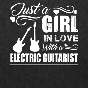 Girl In Love With Electric Guitarist Shirt - Tote Bag