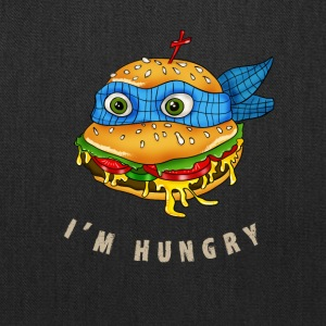 hamburger turtle fast food pizza humor fun comic h - Tote Bag