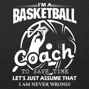 Coach Basketball T Shirt - Tote Bag