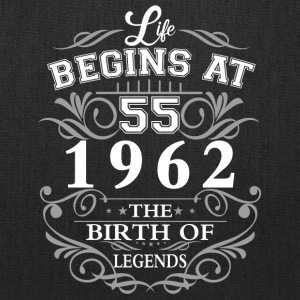 Life begins 55 1962 The birth of legends - Tote Bag