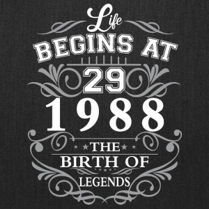 Life begins at 29 1988 The birth of legends - Tote Bag