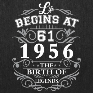 Life begins 61 1956 The birth of legends - Tote Bag