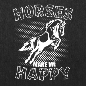 HORSES MAKE ME HAPPY - Tote Bag