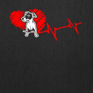 Jack Russell Terrier Heartbeat Shirt - Tote Bag