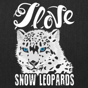 I Love Snow Leopards Shirt - Tote Bag