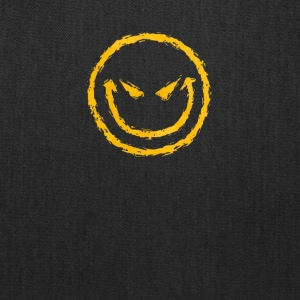 Evil Smiley Face Funny T-Shirt - Tote Bag