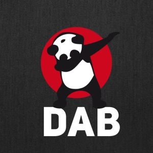 dab panda red DAB panda dabbing football touchdown - Tote Bag