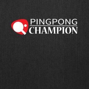 Ping Pong Champion Graphic Tee Shirt - Tote Bag