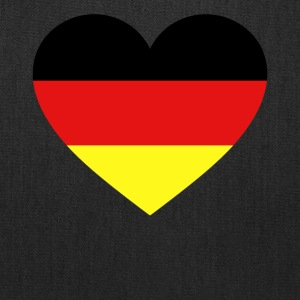 Germany Flag Love Heart Patriotic Symbol - Tote Bag