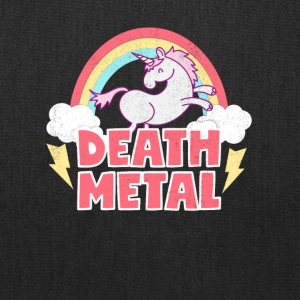 Death Metal Unicorn Thunder Rainbow Clouds Unicorn - Tote Bag
