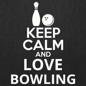 Keep Calm And Love Bowling - Tote Bag