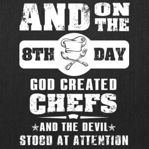 God Created Chef on 8th Day - Tote Bag