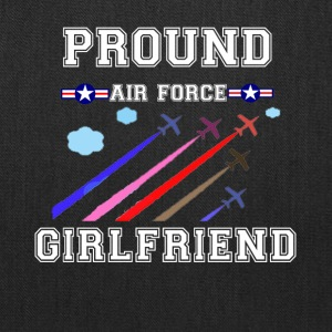 Pround air force girlfriend shirt - Tote Bag