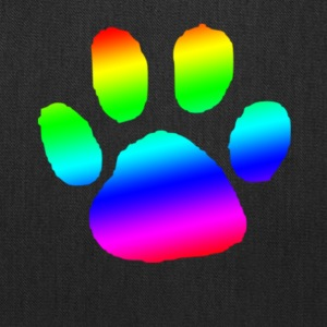 dog cat paw print rainbow - Tote Bag