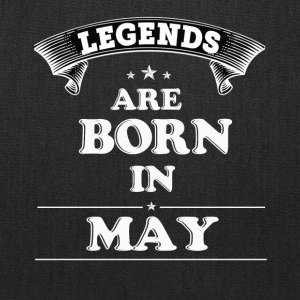 Legends Are Born in May T-Shirt - Tote Bag
