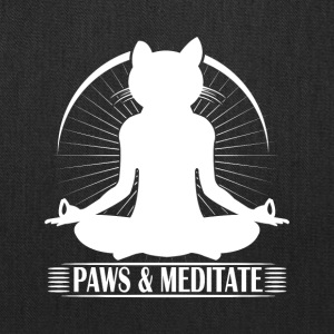 Kitty Meditation - Paws and Meditate - Tote Bag