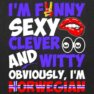 Im Funny Sexy Clever And Witty Im Norwegian - Tote Bag