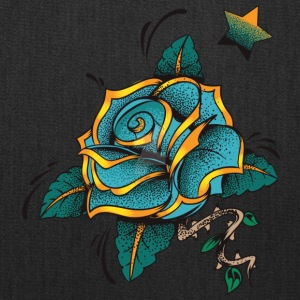 blue rose by lildachi - Tote Bag