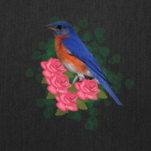 Bird and roses - Tote Bag