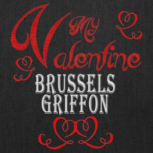 A romantic Valentine with my Brussels Griffon - Tote Bag