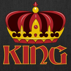dark red gold king crown - Tote Bag