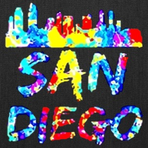 Diego California Paint Splatter - Tote Bag