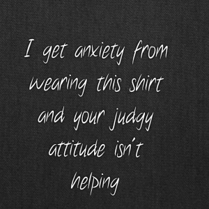 Anxiety W/O quote - Tote Bag