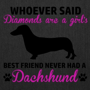 dachsund diamond - Tote Bag